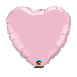 Ballon métallique coeur rose pastel