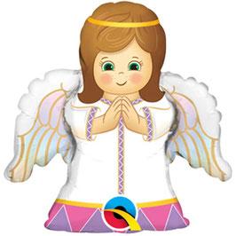"""Ballon métallique """"Angel girl"""" hauteur 35 cms"""