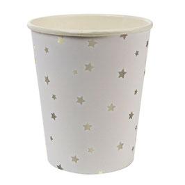 8 Gobelets étoiles argent Meri Meri