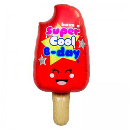 "Ballon aluminium Glace ""Super cool B-day"""