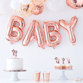 "Ballon lettre Rose Gold ""Baby"""