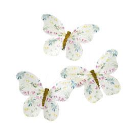 6 pinces clips Papillons pour fête anniversaire Pastel