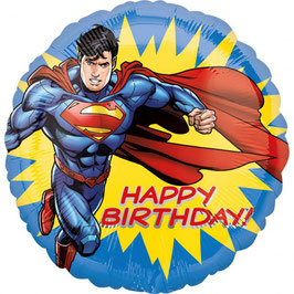 Ballon métallique Superman Happy Birthday 43cms