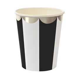 8 gobelets rayures noir et blanc meri meri