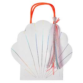 8 sacs invités Coquillage pour décoration anniversaire Sirène meri meri