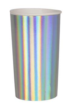8 grands gobelets argent holographique meri meri