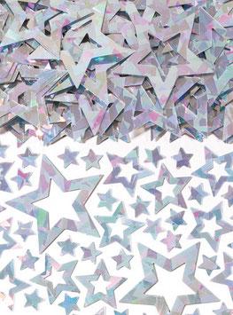 Confettis de table étoiles irisées