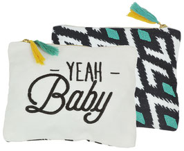 "Pochette brodée "" Yeah Baby "" Charlie's dream"