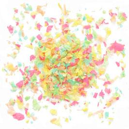 Confettis pastels vert menthe, pêche, rose bonbon, jaune pastel