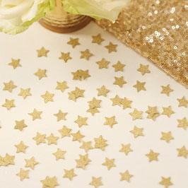 Confettis de table étoiles paillettes dorées