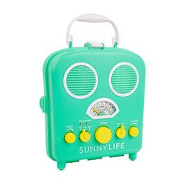 "Radio de plage et amplificateur ""Beach sound"" turquoise jaune Sunnylife"