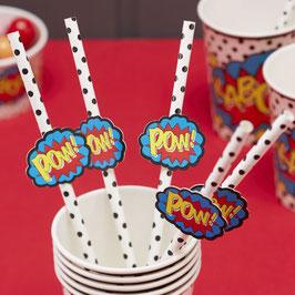 """20 Pailles """"Pow"""" superhero"""
