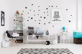 Stickers muraux étoiles noires Pom le bonhomme