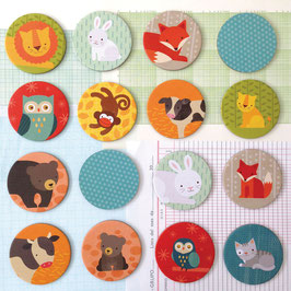 """Jeu de mémoire """"Les animaux et leurs bébés"""" Petit Collage"""