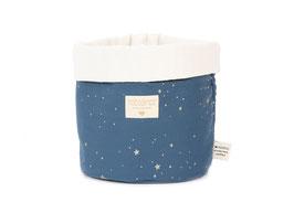 Panier de rangement marine étoiles dorées Nobodinoz 19cmsX15cms