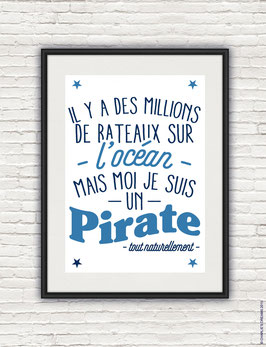 Affiche Pirate format A4 Charlie's dream