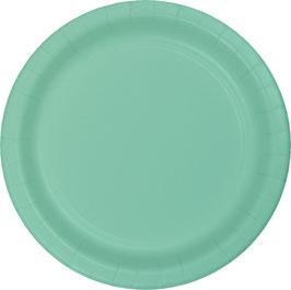24 petites Assiettes en carton vert menthe