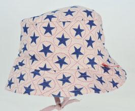 chapeau fond rose clair étoiles marines Kik kid