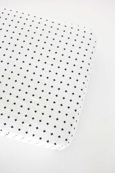 """Drap Housse pour lit enfant modèle """"Croix Suisse """" en coton bio Modern Burlap 90cmsX190 cms"""