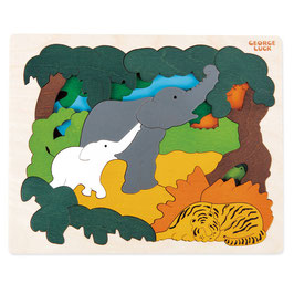 Puzzle Les animaux de l'asie fabriqué en bois Hape toys
