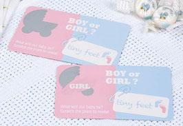 """10 cartes à gratter annonces surprises """"Girl"""""""