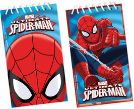 12 mini carnets Spiderman