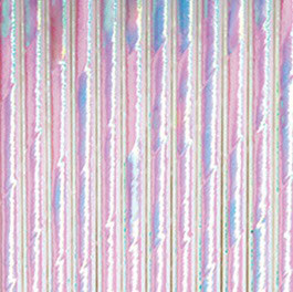 Pailles en papier irisées blanches reflets multicolores