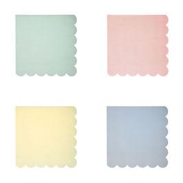 20 petites serviettes pastels Meri Meri