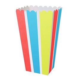 8 boites à popcorn aux coloris fluos Meri Meri