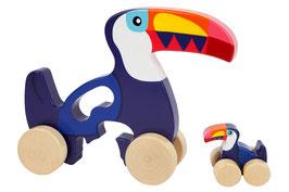 Jouets à tirer en bois toucans Sunnylife