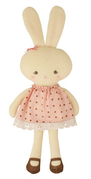 Poupée lapin robe à pois Alimrose