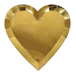 8 grandes assiettes coeurs doré meri meri