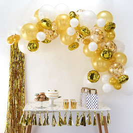 Kit Arche Ballons Blanc et Or