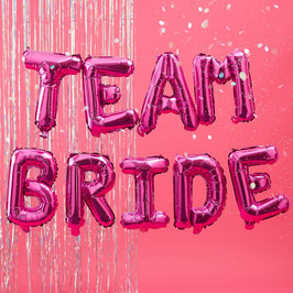 Ballon Lettre EVJF Team Bride Rose