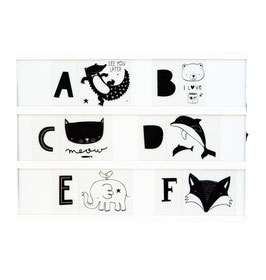 "Symboles ""alphabet Kids black"" pour light box A little Lovely Company"