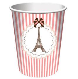 8 Gobelets en carton thème Paris