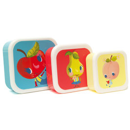 Set de 3 boites à gouter Fruits Petit Monkey