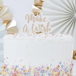 Bougie Make a wish dorée