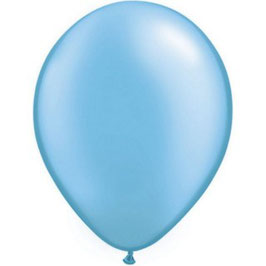 10 ballons bleu azur métallisés nacrés en latex