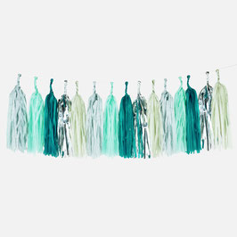Guirlande tassel coloris verts et gris my little day