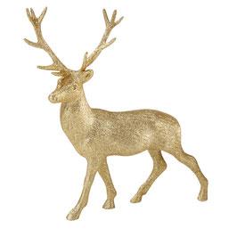 Cerf doré paillette pour décoration