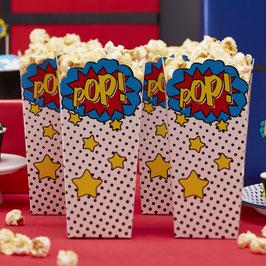 """8 Boites à popcorn super héros """"POP"""""""