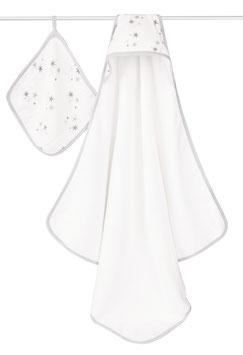 Coffret cape de bain Aden & Anais étoiles grises Twinkle