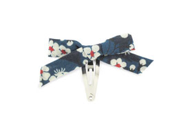 Barrette noeud à l'unité Liberty of London Mitsi indigo