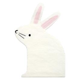16 petites serviettes en forme de lapin meri meri