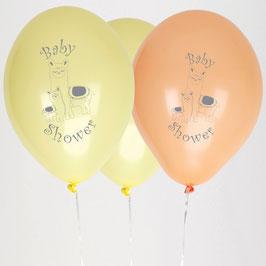 8 Ballons Baby Shower Lama Pastel