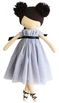Poupée ballerine Ruby robe grise avec pompons 50cms
