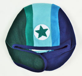 Bonnet bleu et vert kik kid
