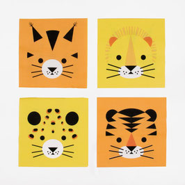 20 petites serviettes animaux de la jungle my little day