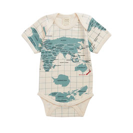 BODY MC PRINT ATLAS BLEU EN COTON BIO